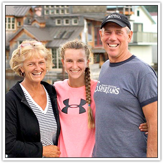 Rod and Debbie Wray with daughter Katie